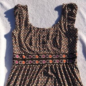 Maggy London Cap Sleeve Party Print Dress